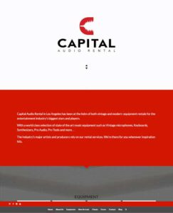 Capital Audio Rental- webonedesign.com