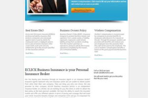 Eclick-Business-Insurance - Web One Design