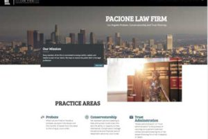Pacione Law Firm- Web One Design