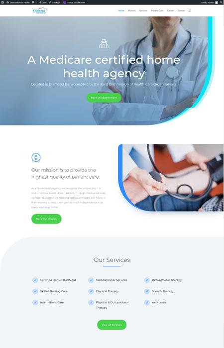 Diamond Home Health -Webonedesign.com