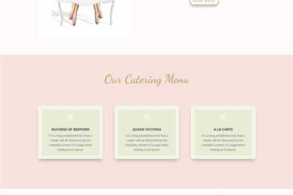 High Tea LA - Web one Design