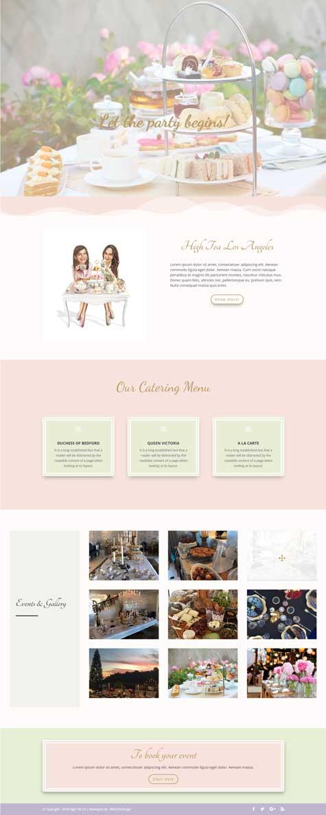 High Tea LA - Web one Design